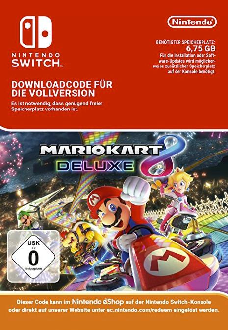 Mario Kart 8 Deluxe dosya boyutu