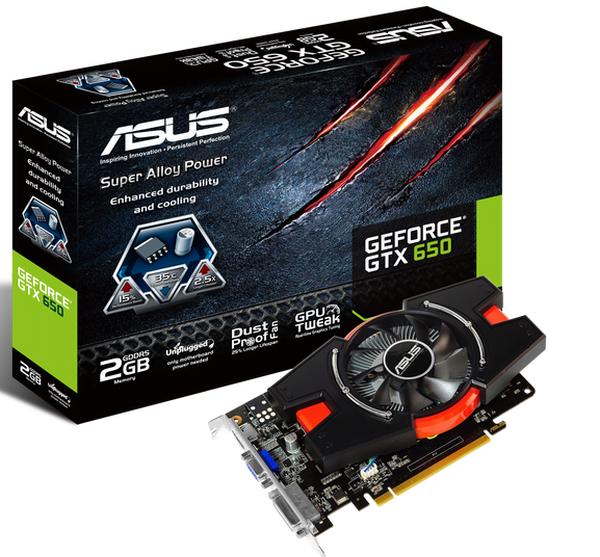 ASUS GeForce GTX 650-E 2GB GDDR5 graphics card