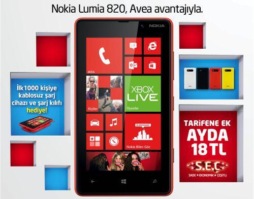 AVEA LUMIA nokia lumia 820