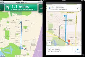 Apple Maps Google Maps