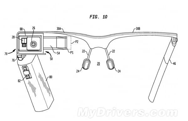 Google glass gözlük patent 001