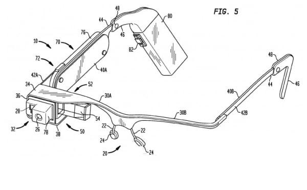 Google glass gözlük patent 002
