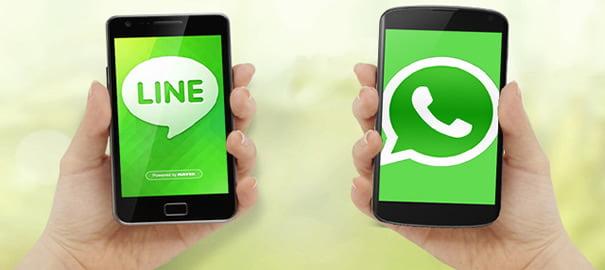 LINE-vs-WhatsApp