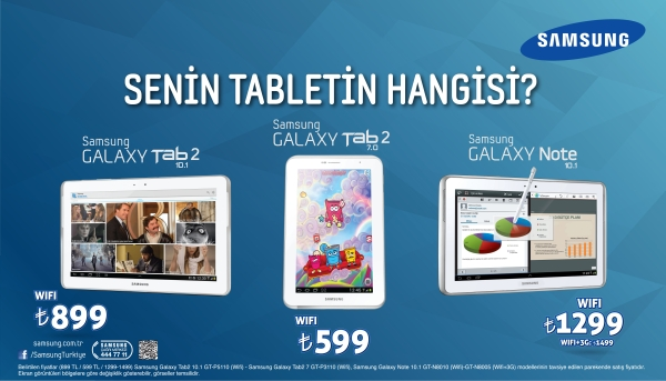 samsung tablet PC ler